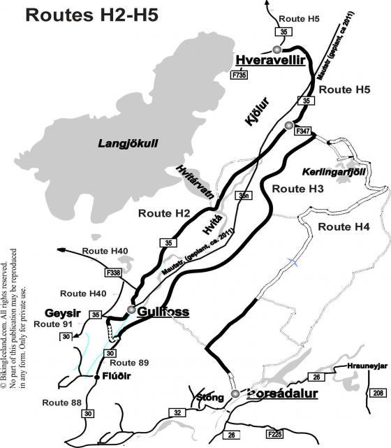 Route H2-H5 Kjölur