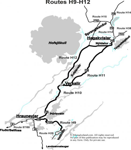 Highland Route Map H9 - H12