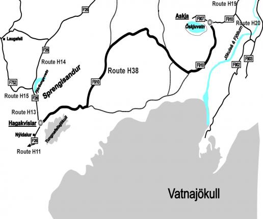 Map Iceland F910 Route H38