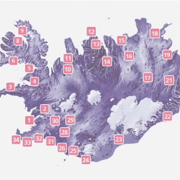 Map Campingcard Iceland